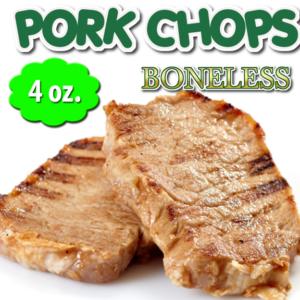 4 oz. Boneless Chops